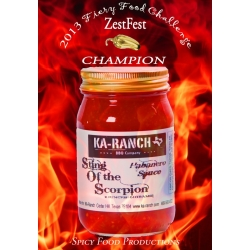 AWARD WINNING Sting of the Scorpion Habanero Sauce